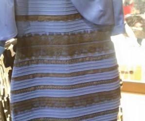 niebiesko-czarna czy biało-złota sukienka